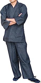 Edoten 男式日本和服牛仔布凉鞋