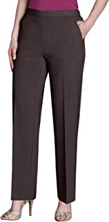 Briggs New York 女式小码*舒适长裤  棕色 8P SHORT