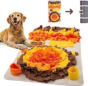YKMOPS Snuffle 垫,适合大型犬,耐用大号狗狗喂食垫,Snuffle Mat 大品种,Sniff 垫鼓励狗狗的自然觅食技巧