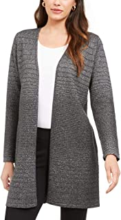 Alfani 女式金属色中长款开衫毛衣