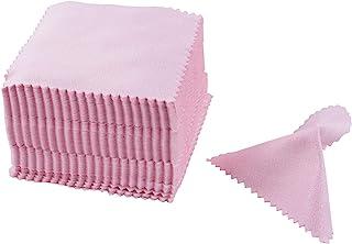 AUEAR,100 件装粉色服饰珠宝清洁布抛光布清洁布适用于银金色铂金首饰