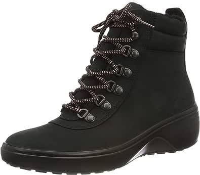 ECCO 爱步 女士 Soft 7 坡跟鞋 黑色 踝靴