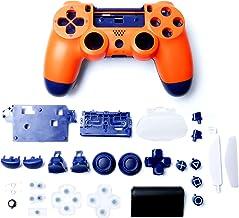 游戏控制器外壳带按钮替换套装,适用于 Playstation 4,日落橙色
