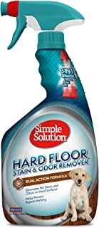 Simple Solution 硬地板宠物污渍和异味去除剂   双作用清洁剂 适用于密封硬木地板   32 盎司