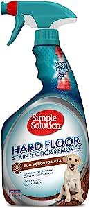 Simple Solution 硬地板宠物污渍和异味去除剂 | 双作用清洁剂 适用于密封硬木地板 | 32 盎司