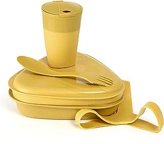 Light My Fire 露营杂乱套装 - 5 件套装,适合露营 1 人使用 - 可重复使用的露营盘和餐具 - 不含 BPA 的午餐盒与餐具一起使用 - 露营菜肴 / 徒步杂乱套装 / 便当盒