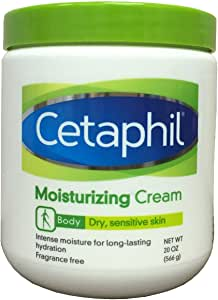 Cetaphil 保湿霜,适用于干性、敏感性皮肤、无香料、不致痘成分,每瓶 566.99 克(2 瓶装)