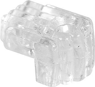 Prime-Line MP9003 镜面夹,0.64 cm 偏移,塑料,透明,包括安装紧固件(50 个装)