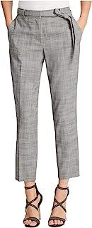 DKNY 女式灰色拉链口袋格子工装裤 尺码 14