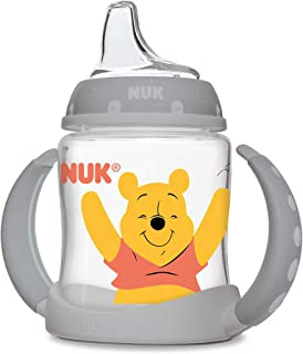 Nuk Disney 维尼熊维尼 5 盎司透明杯,带Munchkin 硅胶勺