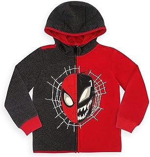 Marvel 蜘蛛侠和毒液拉链男孩连帽衫