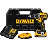 DEWALT 20V MAX XR Brushless Drill/Driver Kit with Tool Conne…