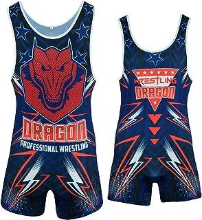 Dragon 男式摔跤单身举重单身男孩运动 Unifrom 成人和儿童连体衣