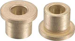 uxcell 法兰套筒轴承 10mm 孔径 16mm 外径 16mm 长 22mm 法兰直径 3mm 法兰厚度烧结青铜自润滑衬套 2 件