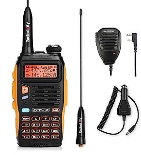BAOFENG GT-3 双频 VHF/UHF 手持式无线电设备 业余无线液晶显示屏 对讲机 PMR CTCSS/CDCSS 带麦克风