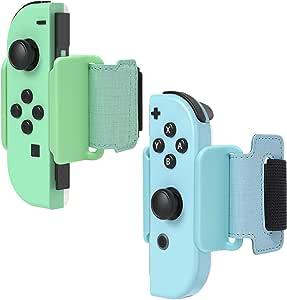 FYOUNG 腕带,适用于 Just Dance 2020/2019 款,可调节腕带套装适用于 Nintendo Switch 控制器游戏和 Joy-Cons 控制器,适合 4.7-7.5 英寸手腕(2 件装)