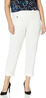 SLIM-SATION 女式加大码套穿纯色针织宽松九分裤