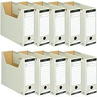 国誉 文件盒 T型 收纳宽 94mm A4 10个 灰色