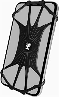 通用手机支架,硅胶手机支架,适用于自行车、婴儿车、滑板车 HiGrip 自行车配件,适用于 iPhone 7 8 9 X XR XS 11 Plus Pro Max | 三星 Galaxy Note S6 S7 S8 S9 S10 S20