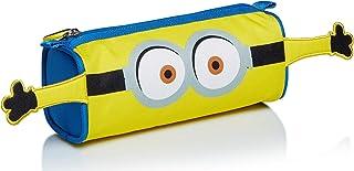 小黄人铅笔盒 起重机崛起,黄色和蓝色,学校铅笔盒