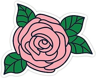 "Pink Rose - 乙烯基贴纸 - 笔记本电脑,Macbook,装饰,窗乙烯基贴纸 -(4"" 乙烯基贴花)"