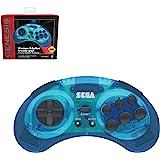 Retro-Bit 官方 Sega Genesis 蓝牙控制器 8 键街机垫适用于 Nintendo Switch、An…