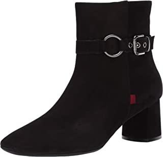 MARC JOSEPH NEW YORK 女士皮革粗跟带扣细节麦迪逊短靴