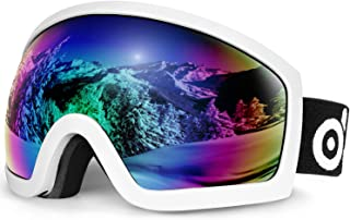 Odoland Snow Ski Goggles S2 Double Lens Anti-fog Windproof UV400 Eyewear - Skiing, Snowboarding, Motorcycle Cycling and Sn...