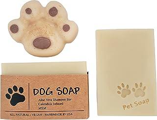 天然狗洗发露(强烈推荐用于芝犬犬、博美犬和威尔士柯基犬)金盏花注入荷荷巴和芦荟皂,适用于*、瘙痒和干性皮肤类型。美国手工制作(2 根 4.5 盎司(约 127.6 克) - 5 盎司(约 141.7 克)