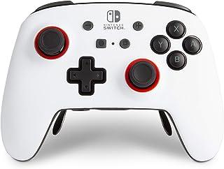 PowerA FUSION Pro 无线控制器 适用于 Nintendo Switch - 白色/黑色,Nintendo Switch Lite,游戏手柄,蓝牙,视频游戏控制器,游戏控制器,官方*