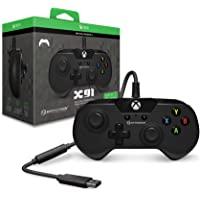 Hyperkin X91 有线游戏控制器,适用于 Xbox One 和 Windows 10(PC 和平板)通过 USB…