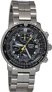 SEIKO 精工 飞行员手表 闹钟 计时码表 100米 WR SNA411
