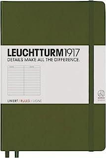 LEUCHTTURM1917 灯塔中开横格笔记本军绿色硬封皮(A5)