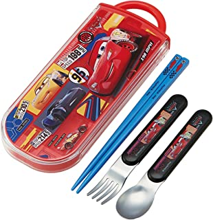 SKATER 斯凯达 便当用筷子 儿童用 餐具三件套组 筷子 餐勺 餐叉 汽车总动员 20 迪士尼 TACC2