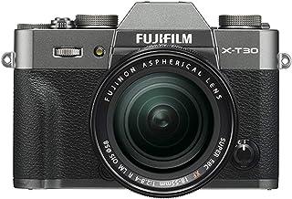 Fujifilm 富士 X-T30 无反光数码相机 w/XF18-55mm F2.8-4.0 R LM OIS 镜头,炭银色