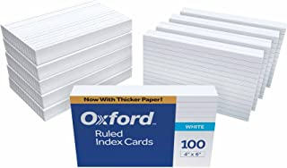 Oxford Ruled Index Cards, 4 x 6 Inches, White, 10 Packs of 100 (41)