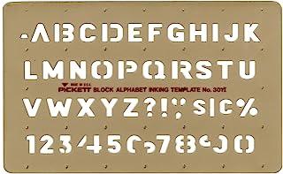 Pickett 等轴测六角螺母和头模板 12 Block Alphabet Font - 1/2 Inch