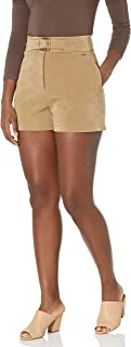 AX Armani Exchange 女式束带环保麂皮短裤
