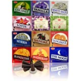 12 Assorted Boxes of HEM Incense Cones, Best Sellers Set #2…