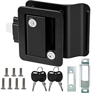 ORCISH RV 旅行拖车入口门锁,RV 门闩替换带门栓,锌合金 RV 门锁套件,适用于露营者、旅行、马车、货运运输机