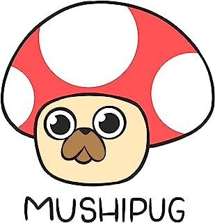 可爱的卡哇伊蘑菇哈巴狗贴纸可拆卸乙烯基蘑菇