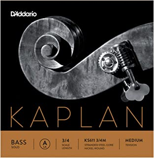 D'Addario KS611 3/4M Kaplan Solo 双低音 A 弦,3/4 比例,中等张力