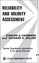 Reliability and Validity Assessment (Quantitative Applications in the Social Sciences Book 17) (English Edition)