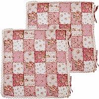 青苇日韩风格纯棉馒头坐垫-索菲亚粉2个装(40*40cm,实用,强烈推荐)