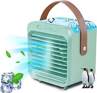 便携式空调,UBS 可充电蒸发空气冷却风扇,带 3 档速度,无线个人空调,带手柄,适用于房间办公室