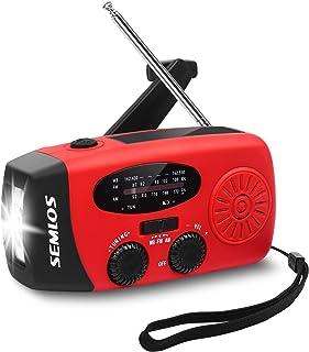 [*版] Semlos 2200 mAh 紧急收音机,自供电手摇太阳能收音机带 AM/FM/NOAAA,LED 手电筒,2000 MAH 移动电源的 USB 充电器,适用于 iPhone/智能手机