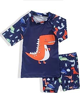 Menglang 男婴泳衣套装 2 件套恐龙鲨鱼幼儿男婴泳装*衣