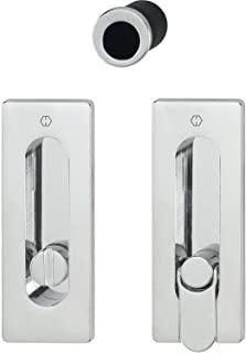 Hoppe 3390278 滑动门把手套装 M464 - 无锁方形玫瑰花,镀铬/PVD