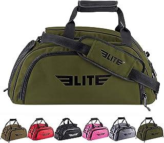Elite Sports 拳击健身行李袋适用于 MMA、BJJ、Ju Jitsu Gear、Duffel 运动健身背包,带鞋隔层