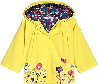 Boyoo 女童防雨夹克轻质外套夹克连帽防水雨衣,适合 2-6 岁儿童